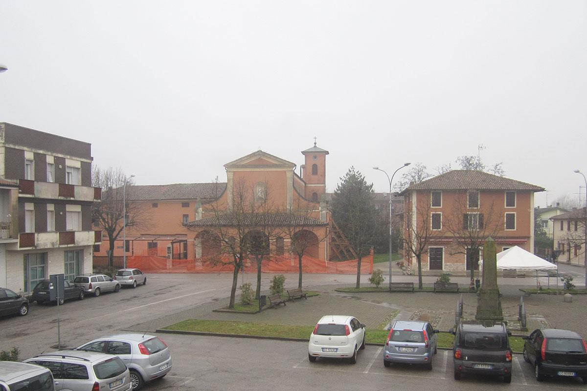La Chiesa di Gallo dopo il terremoto del 2012