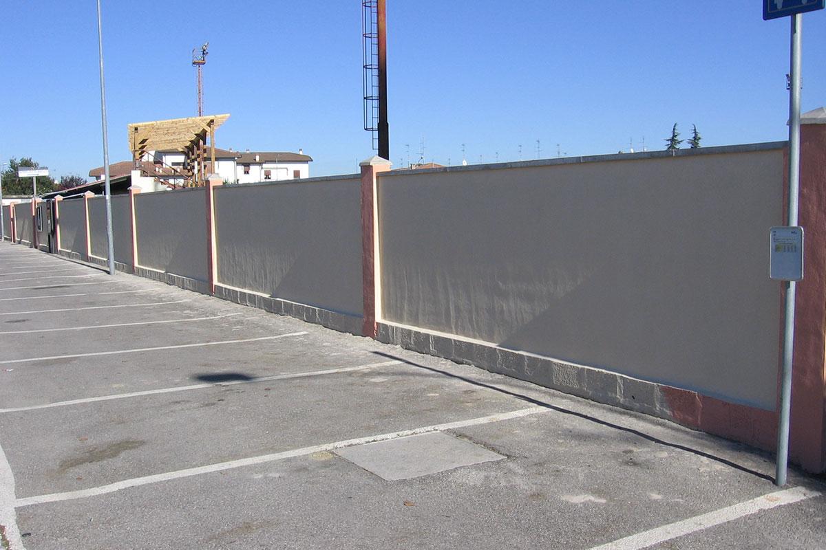 Costruzione della mura in Via Della Chiesa - Impresa Cicci e Brandy - Agosto 2006