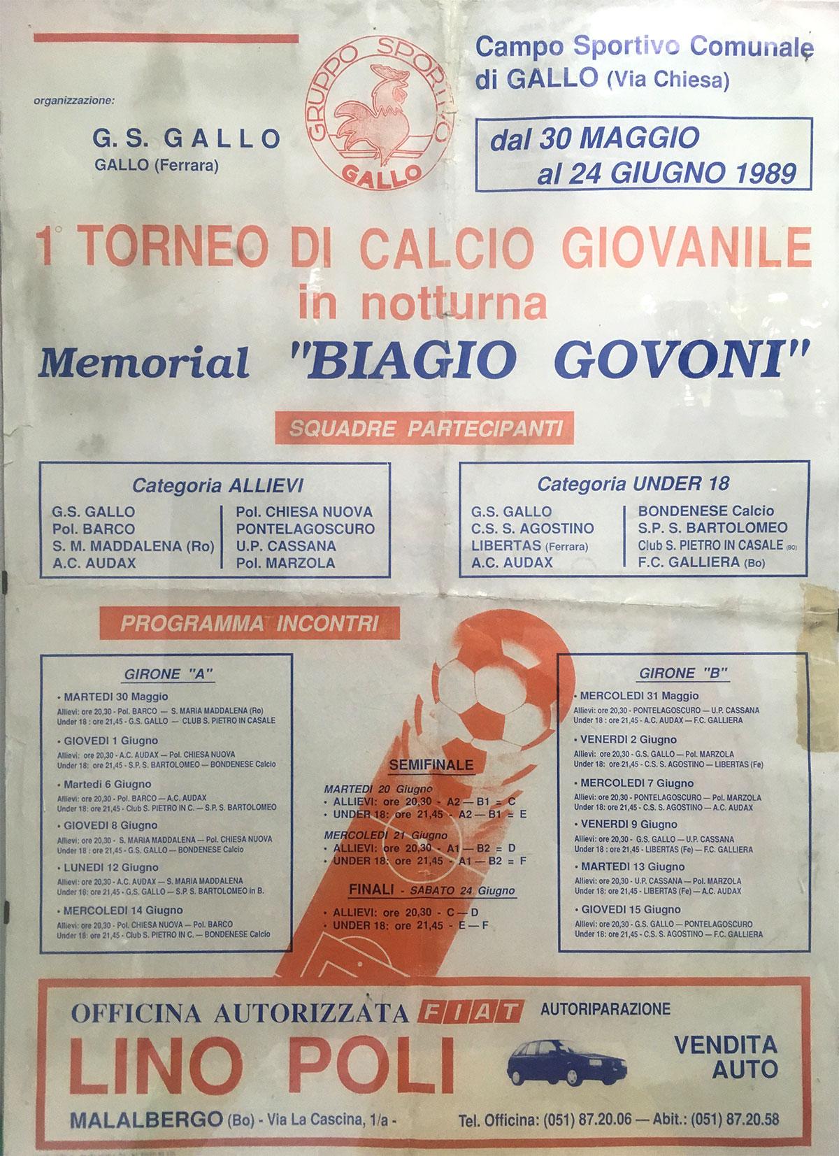 Squadra del Galliera - 1989