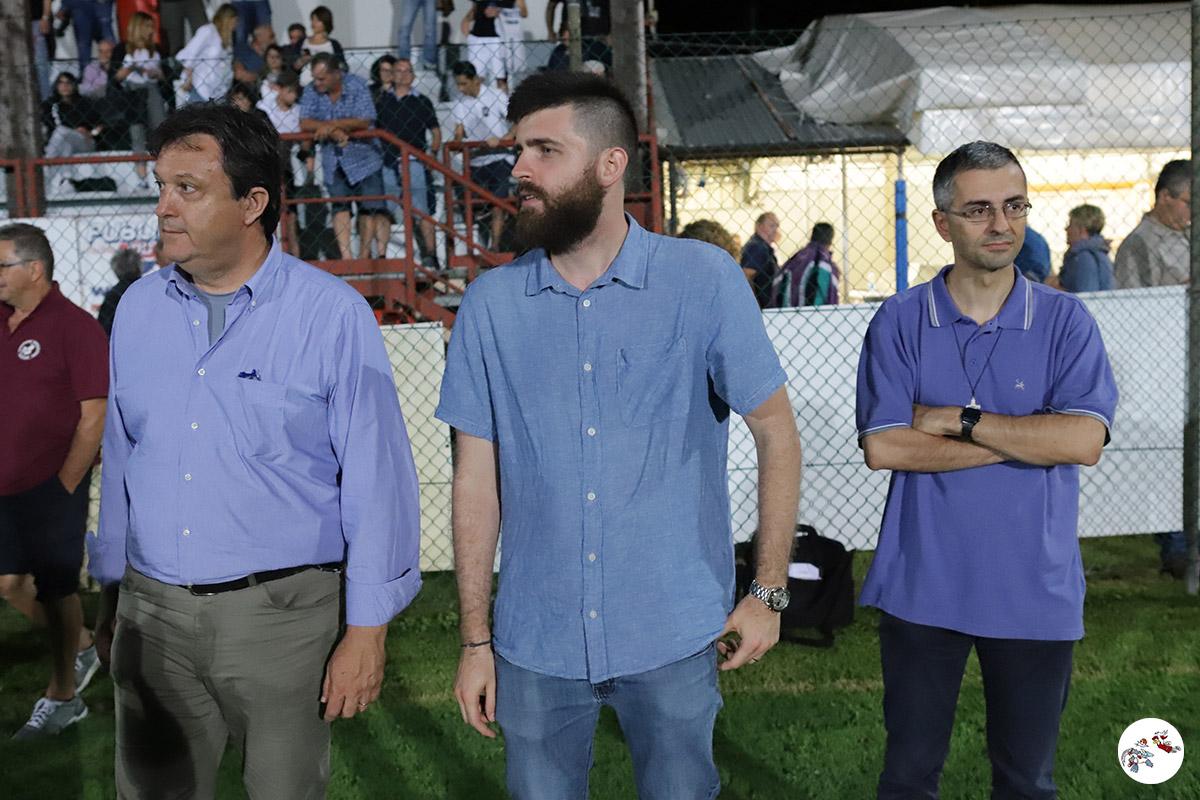 Il Sindaco Garuti, il vicesindaco Bergami e Don Stefano alle premiazioni
