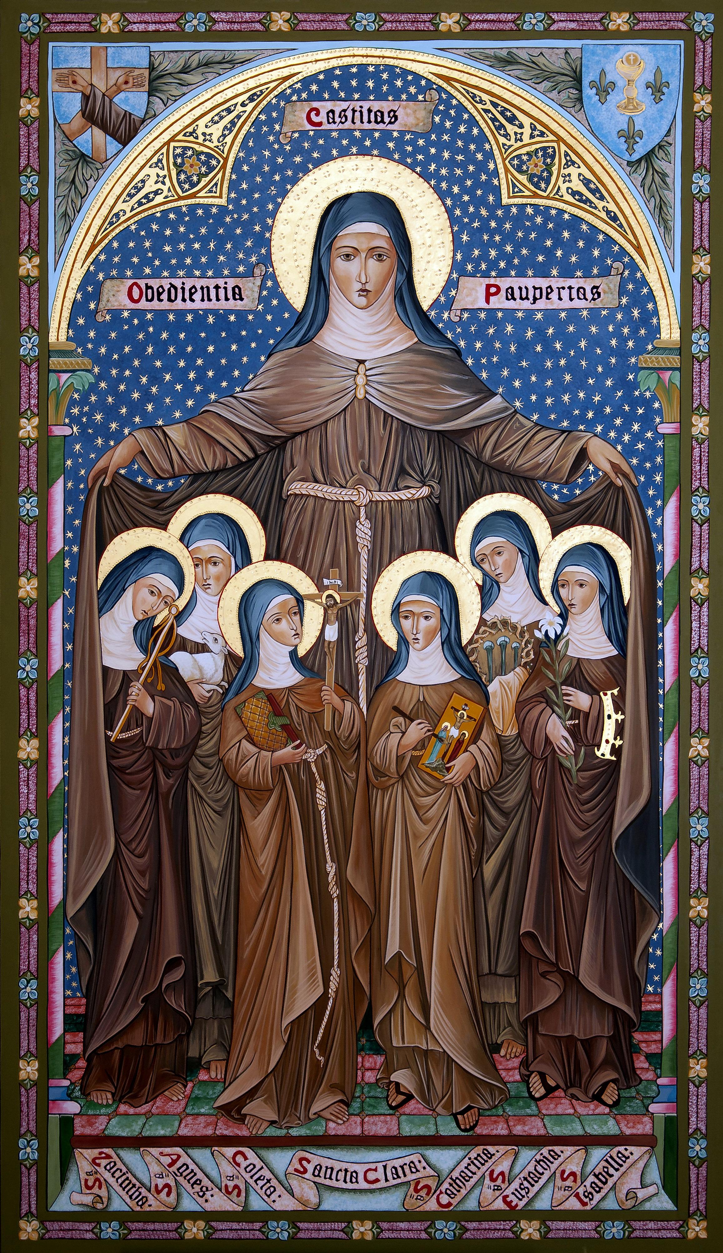 Santa Caterina, alla sinistra di Santa Chiara