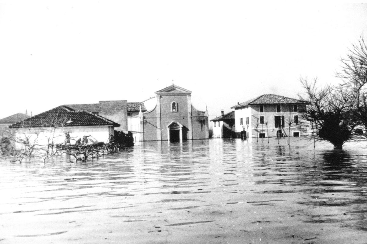 L'alluvione del fiume Reno negli anni 1949 e 1951