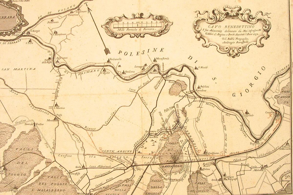 Mappa del Cavo Benedettino e sue adiacenze - 1752 ca.