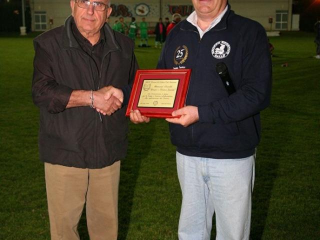 25° Torneo Memorial Biagio e Franco Govoni (2013) a Bruno Marchetti per la collaborazione in questi 25 anni