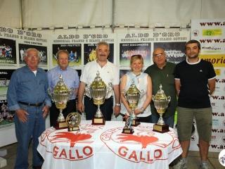 Alessandra Govoni con i trofei offerti dalla famiglia Govoni (2011)