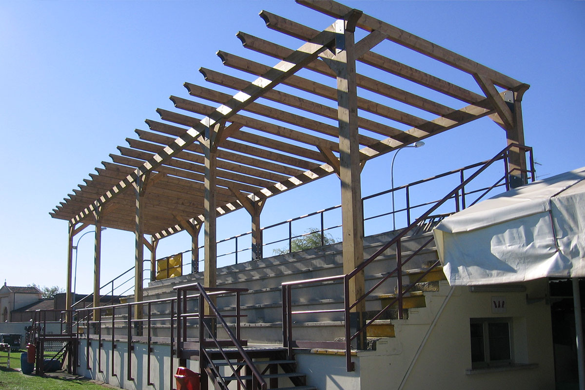 La copertura in costruzione - Agosto 2006