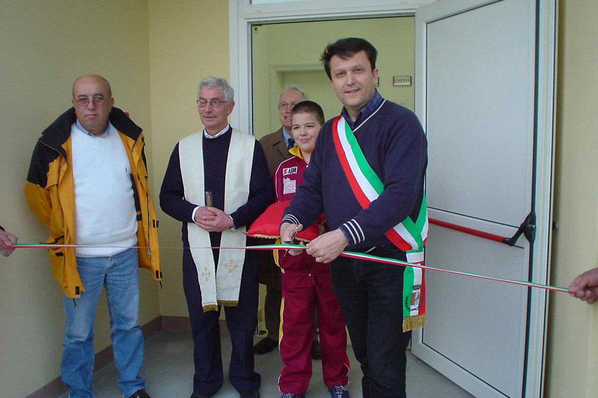 Inaugurazione nuovi spogliatoi a Gallo (con Garuti, Don Andrea e Ravolini)
